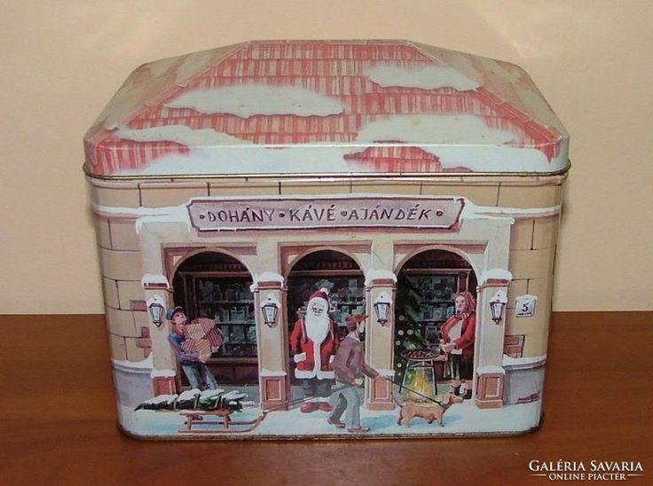 Karácsonyi fém tároló doboz