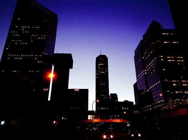 Night Of Minneapolis - Night view of Minneapolis downtown, captured some tall buildings in the city, including IDs Tower, the tallest building in Minneapolis and Minnesota since 1973, and Ameriprise Financial Center, TCF Tower, etc.