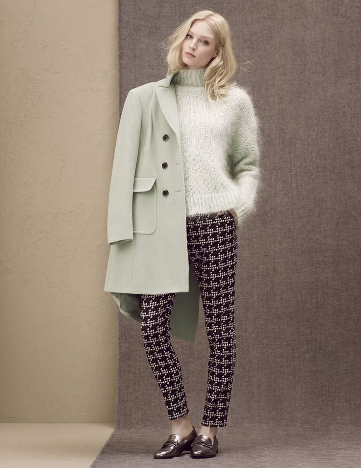 A collaboration of soft hues with playful prints, with a knit and leggings. Autumn/Winter preview.