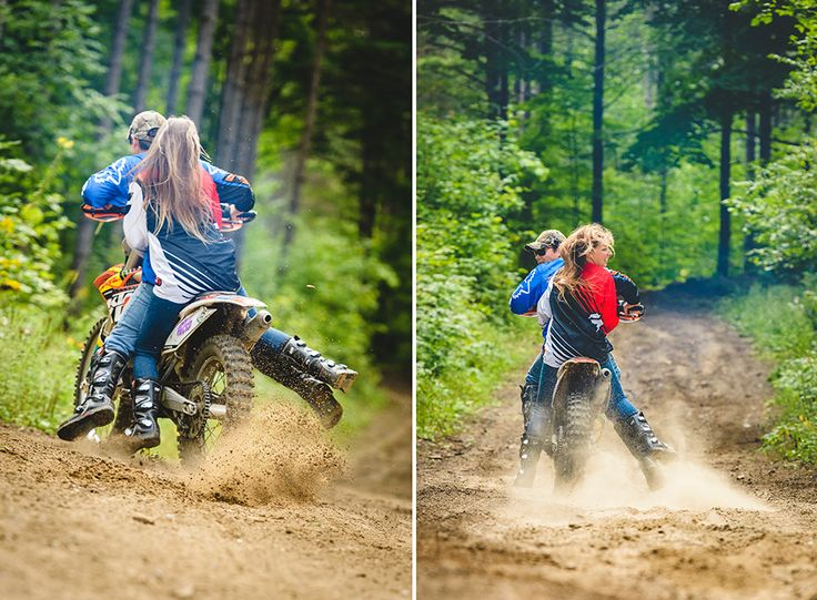 Dirt Bike Engagement photos