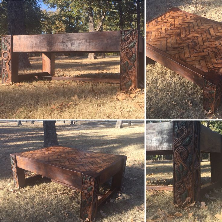 It Has An End Grain Herring Bone Top! Price $1,200 US. Built By Bronson  Furniture. | Pinterest | Hand Cau2026