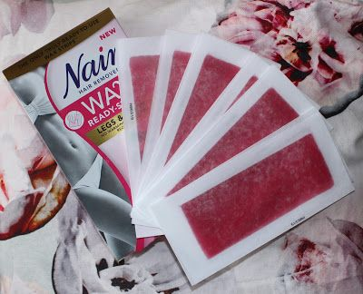Nair Wax Ready Strips for Legs & Body with Skin Softening Cherry Oil
