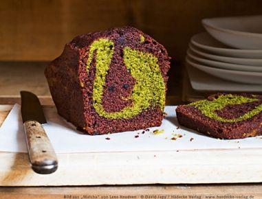 Matcha-Marmorkuchen+mit+Schokolade