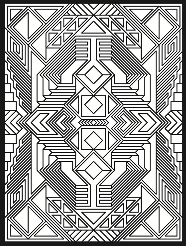 Pattern Coloring Sheets Printables : 102 best geometric patterns coloring pages images on pinterest