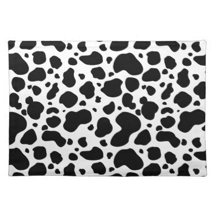 The 25 best cow spots ideas on pinterest cow mug cowboy party cow spots pattern black and white animal print cloth placemat pronofoot35fo Gallery