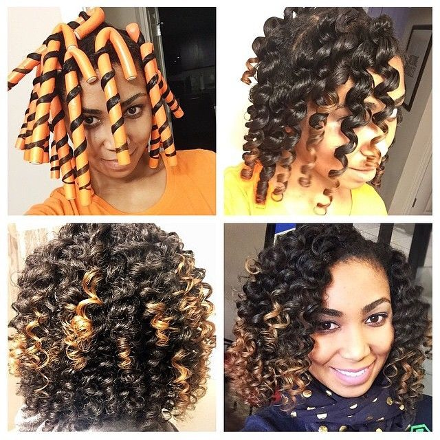 rod set hair styles hairspiration the results of this flexi rod set on 5111