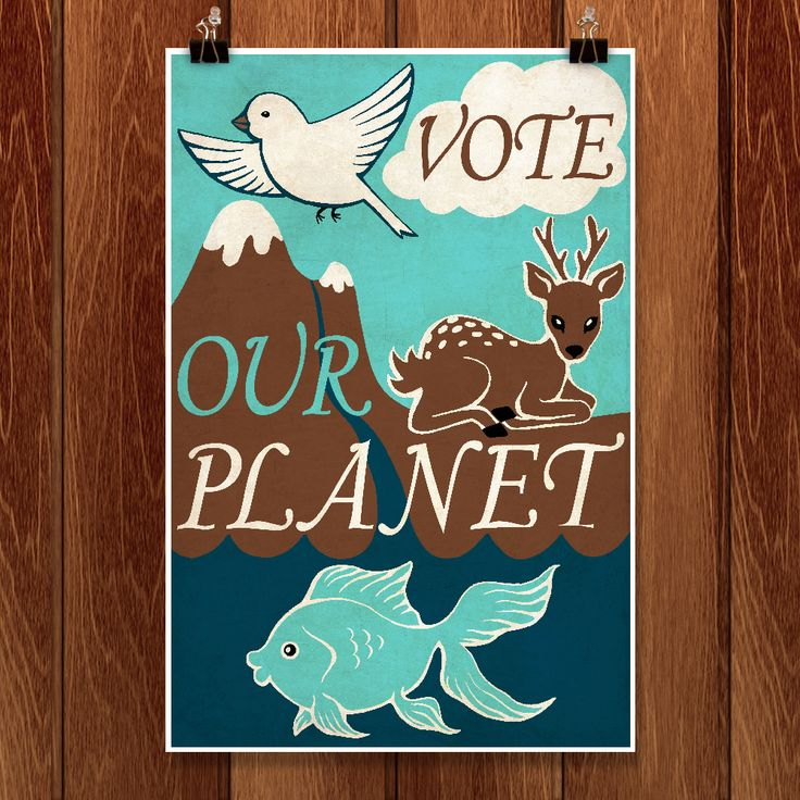 Vote our planet by Alexandra Secrieru for Vote Our Planet by Creative Action Network - 1