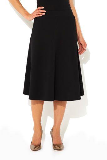 Black Crepe Aline Skirt