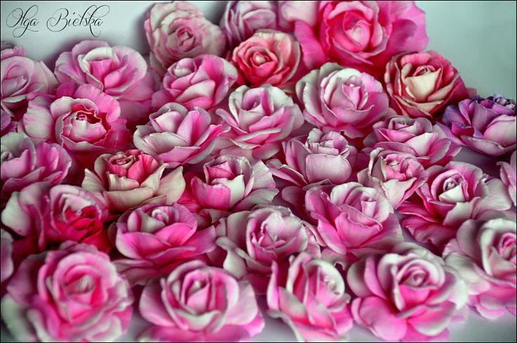 Róże z foamiranu. / Roses of foamiran.