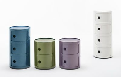 New componibili Storage - 4 drawers - H 77 cm Purple by Kartell