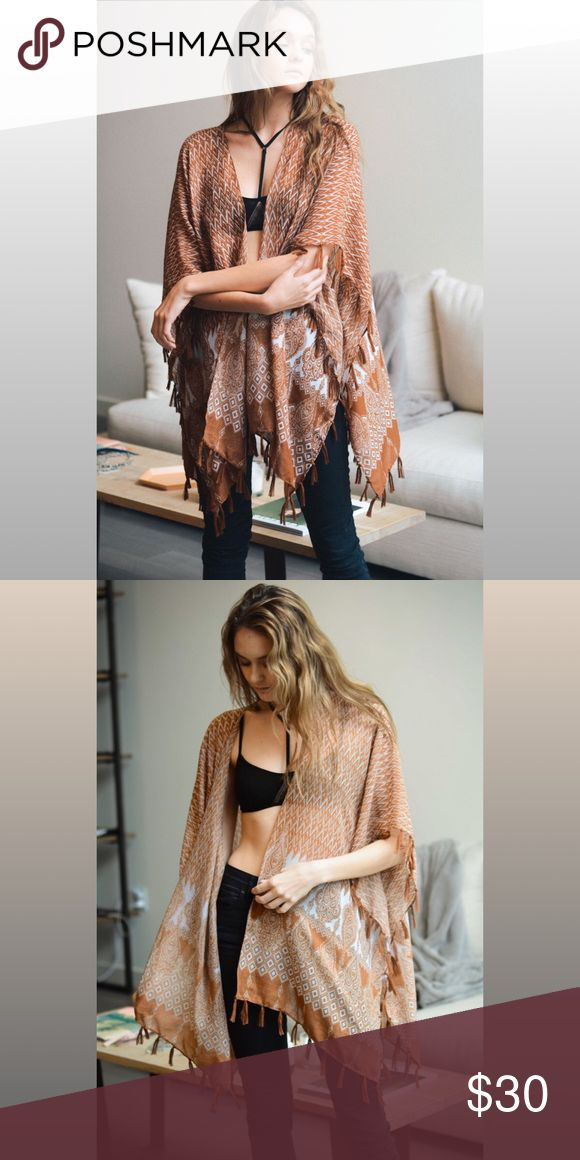 beautiful lightweight scarf Kimono The pretty of the pattern make this Kimono or cardigan on for the books! Pretty and very elegant. Boutique item. PRICE FIRM. Bundle & save. Fast shipping. Feel free to ask any question. Accessories Scarves & Wraps
