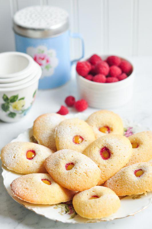 Madeleines with Lemon Curd. Recipe adapted from The Little Paris Kitchen by Rachel Khoo | eatlittlebird.com