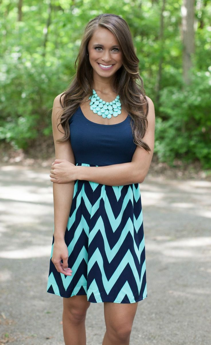 The Pink Lily Boutique - Navy and Mint Chevron Mini Dress CLEARANCE!!, $20.00 (http://thepinklilyboutique.com/navy-and-mint-chevron-mini-dress-clearance/)