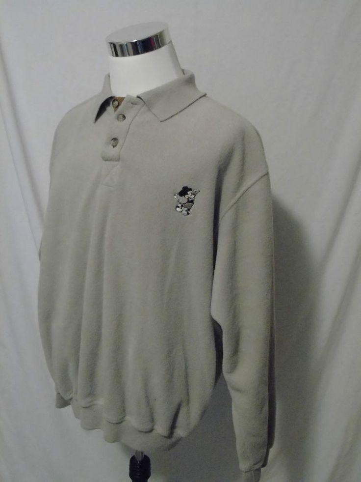 Disney Parks Fleece Pullover Golf Jacket Mens XL Mickey Mouse #WaltDisneyWorld #CoatsJackets