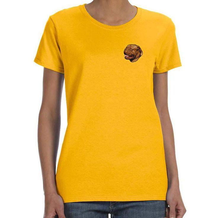 Dogue de Bordeaux Embroidered Ladies T-Shirts