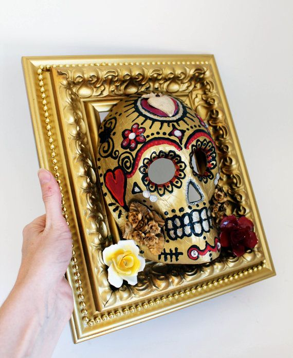 Day of the Dead Mexican celebration Sugar skull by TheVirginRose, $65.00