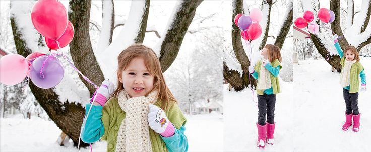 Zendejas Photography | PORTRAITS | Pictures in the snow | Birthday Photos | balloons