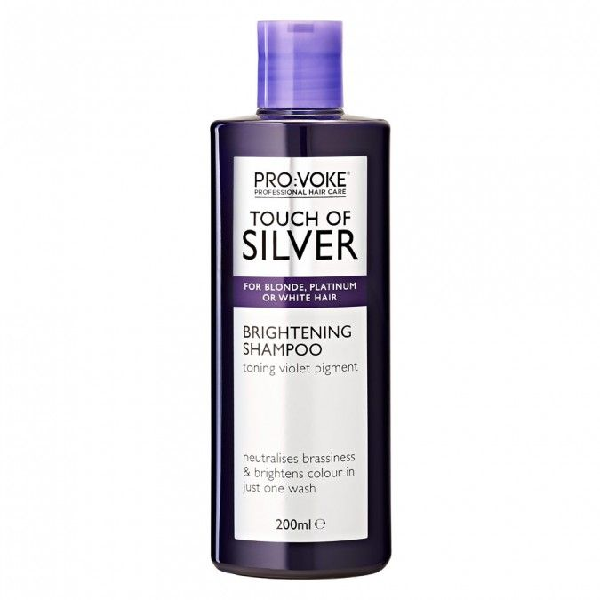 Touch of Silver Brightening Shampoo is a weekly treatment designed for grey, white or platinum blonde hair.