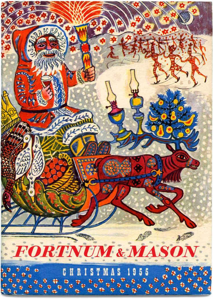 Edward Bawden's 1955 Christmas catalogue cover for Fortnum & Mason. Find out more... http://allthingsconsidered.co.uk/2015/12/edward-bawden-christmas.html