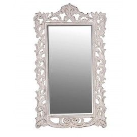 Mottram Large Antiqued Cream Wall Mirror