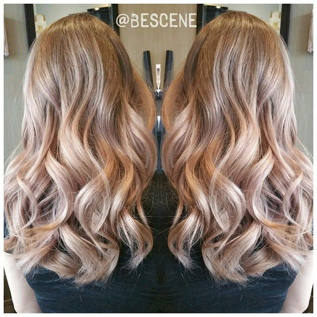 blush brownrose gold ombre loving how these colors melt