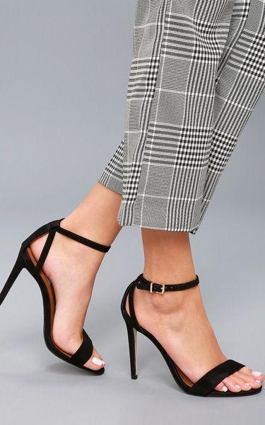 efb2ad74d68 Steve Madden Lacey Black Nubuck Leather Ankle Strap Heels   anklestrapsheelsblack