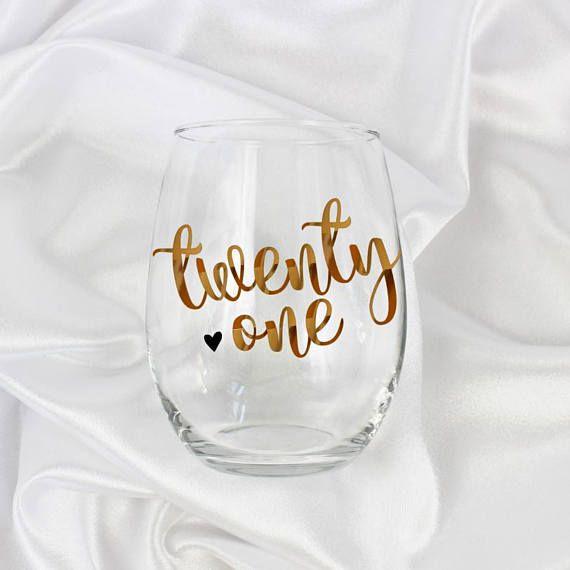 21st birthday gift for her, 21st birthday gift, 21st wine glass, 21st birthday decorations, 21st birthday wine glass, 21st birthday for her