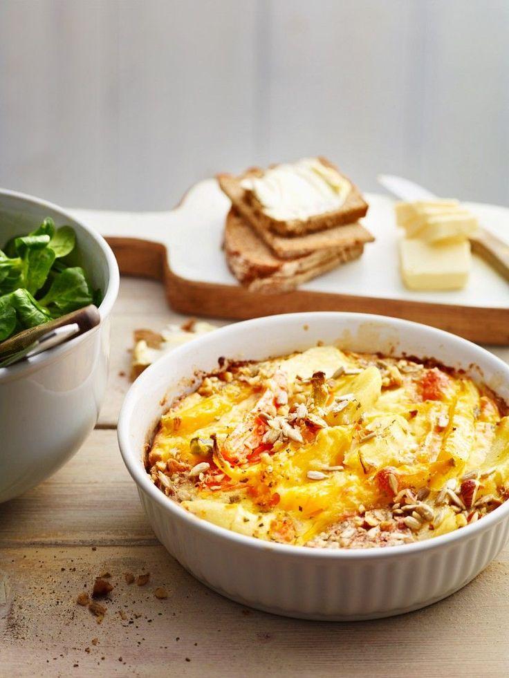 Karotten-Pastinaken-Gratin | http://eatsmarter.de/rezepte/karotten-pastinaken-gratin