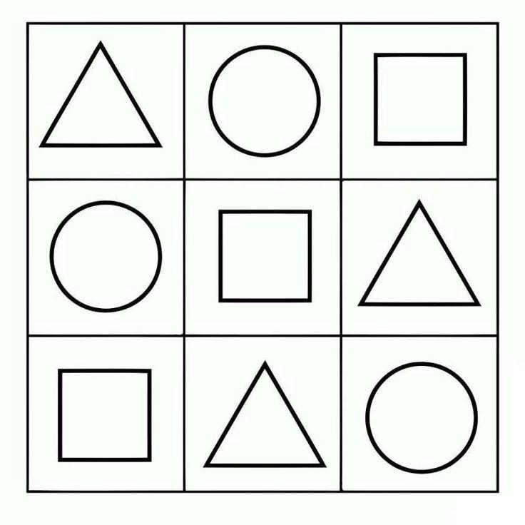 Dibujos geométricos para colorear e imprimir gratis - Formas simples
