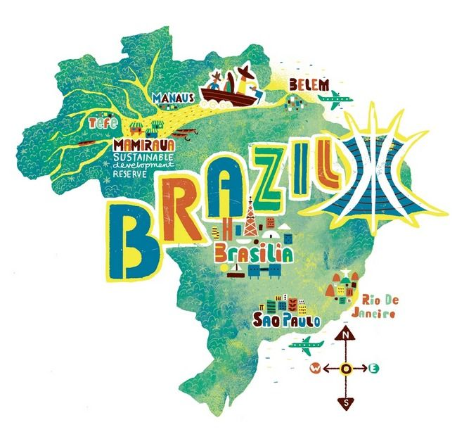 If I could travel ANYWHERE in the world I would choose Brazil in South America.