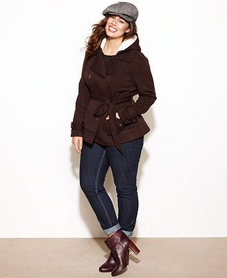 cute winter outfit for curvy women