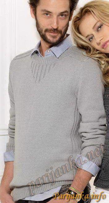 Пуловер (м) 14*70 Phildar №2680