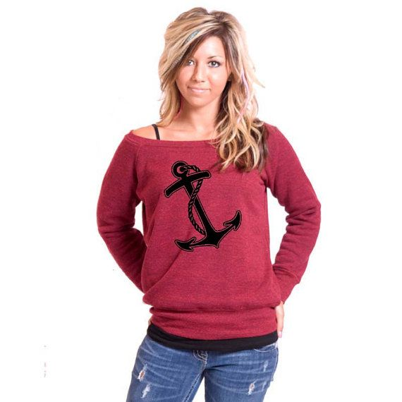 Anchor Bella Slouchy Wideneck Sweater by rainbowswirlz on Etsy, $38.00