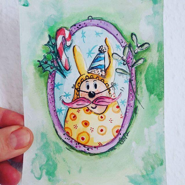 Rate rate was ist das?   Tja ganz ehrlich weiss ich das auch nicht. Habe einfach drauf los gemalt.  Findet einen Namen dafür....bitte!  I don't know what it is...i was  drawing it yesterday...but give him a name please! #drawing #xmas #painting #illustration #ilovepainting #iloveblogging #art #rätsel #doodle #arte #handmade http://kreacaro.blogspot.de/