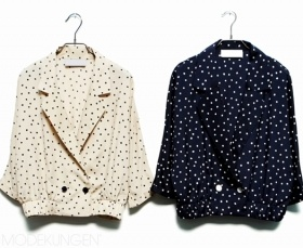 dots jacket.: Bespoke Fashion, Polka Dots, Dots Jackets Swoon, Shape Fashion, Style, Dotty Jackets, Cute Jackets, Women Clothing, Modekungen Dots