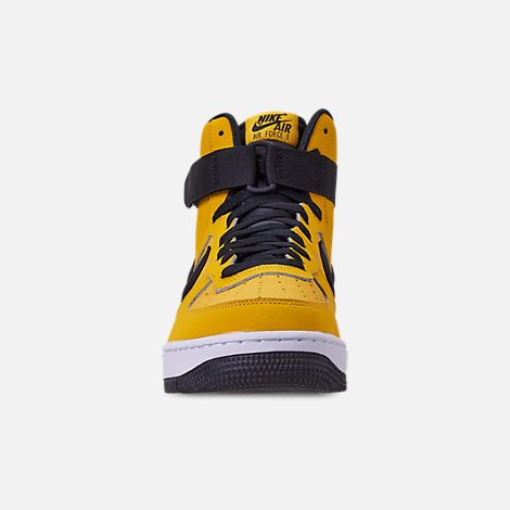 new arrival e0ec1 0a676 Front view of Men s Nike Air Force 1  07 High Leather Casual Shoes in  Yellow Ochre