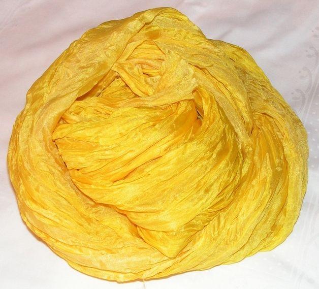 """Schals - Großer Schal """"Goldgelb"""" aus Naturseide - ein Designerstück von Mirnadi bei DaWanda"""