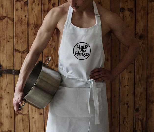Kochschürze für die männlichen Helden der Küche/ funny cooking apron for men who own the kitchen made by Bini-Bee via DaWanda.com