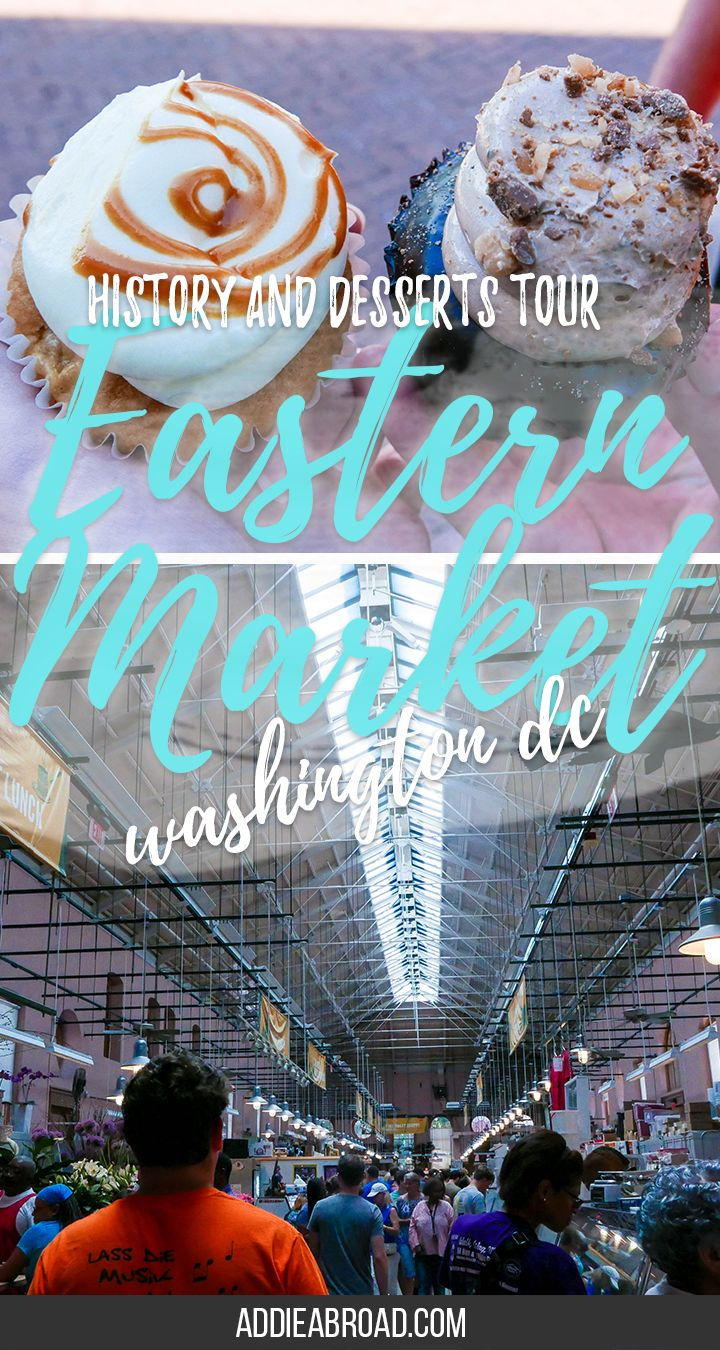 Learn how to take the best food tour of the Eastern Market neighborhood in Washington DC with Free Tours By Foot and their History and Desserts Free Walking Tour. | What to do in Washington DC, USA