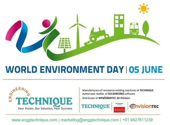 On World Environment Day, let us stop harming the nature, let us stop polluting it… Let us join hands to bring a positive change to make Planet Earth a much healthier, greener and happier place to live. #WorldEnvironmentDay #WorldEnvironmentDay2017  Engineering Technique with help of #SOLIDWORKS & #3DPrinting is driving Green Manufacturing.  To know how Solidworks & 3D Printing can enable you for Green manufacturing, do reach us.