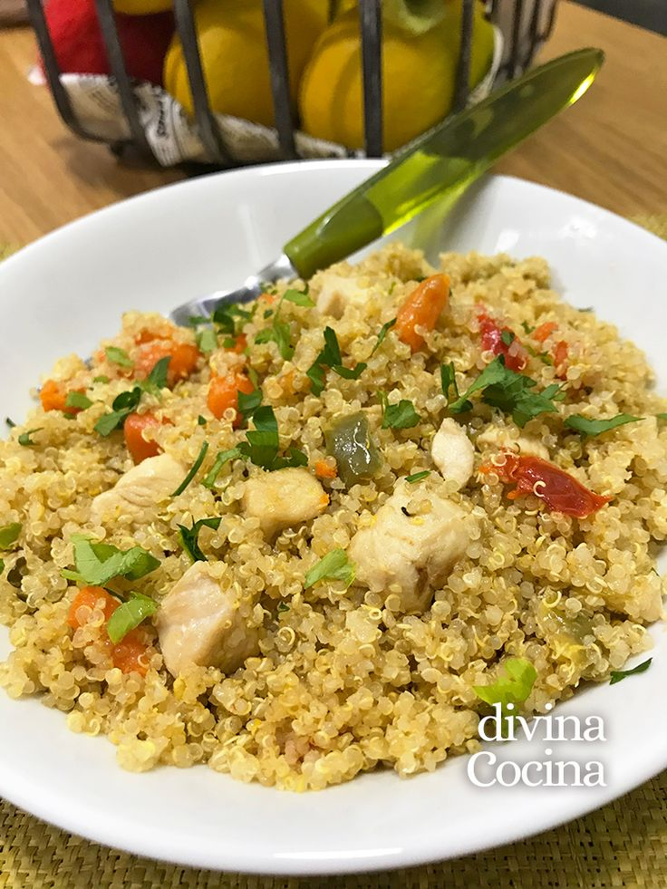 Aquí tienes nuestra receta fácil de quinoa con pollo y verduras, un plato completo y sabroso, lleno de salud y sabor para todos.
