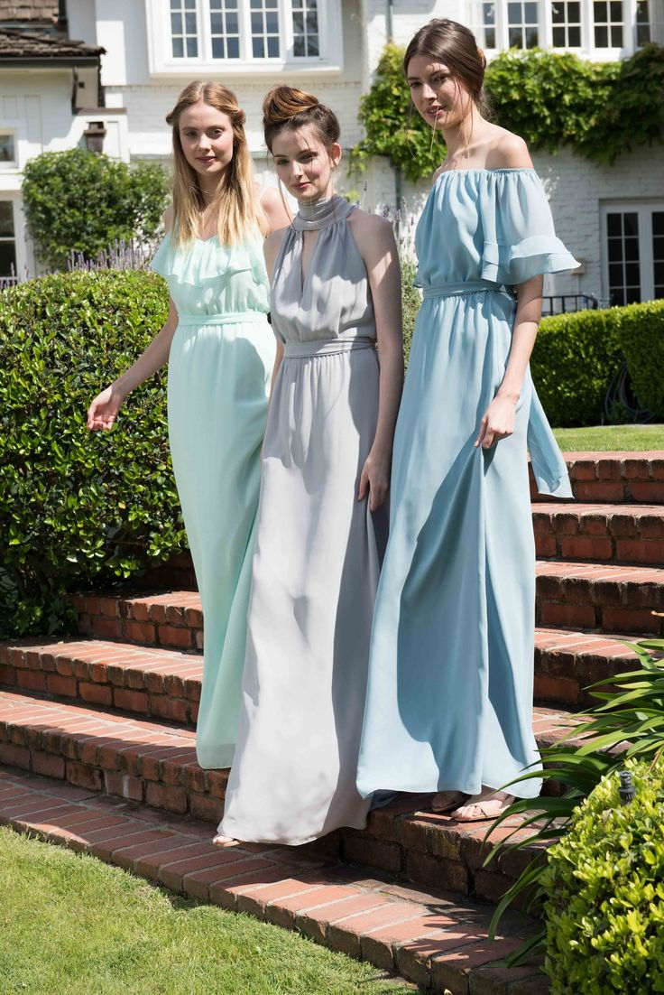 220 best blue bridesmaid dresses images on pinterest showroom how beautiful are these pastel bridesmaid dresses from joanna august its like claire danes meets ombrellifo Choice Image