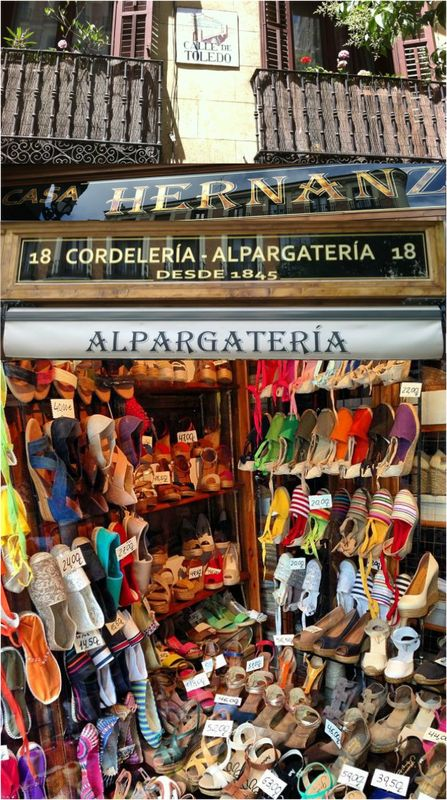 There is only one Casa Hernanz, where the long wooden counter dates back to the 19th century and the shoes are made by hand. The Hernanz f...  #handcrafted #espadrilles