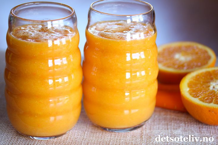 Mangosmoothie med appelsin og gulrot
