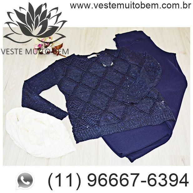 Blusa de linha com Paetê R$ 8500  Calça Flare Piquet R$ 8800 #vestemuitobem #moda #modafeminina  #modaparameninas #estilo #roupas #lookdodia #like4like #roupasfemininas #tendência #beleza #bonita #gata #linda #elegant #elegance