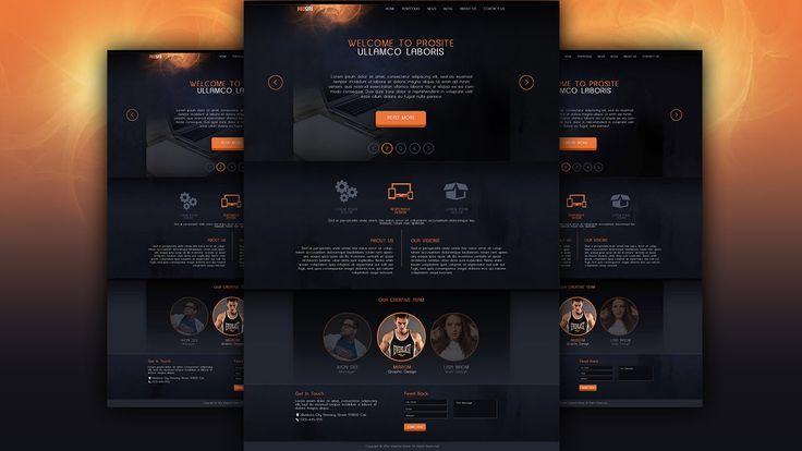 Make A Dark Style Website Design Photoshop Tutorial