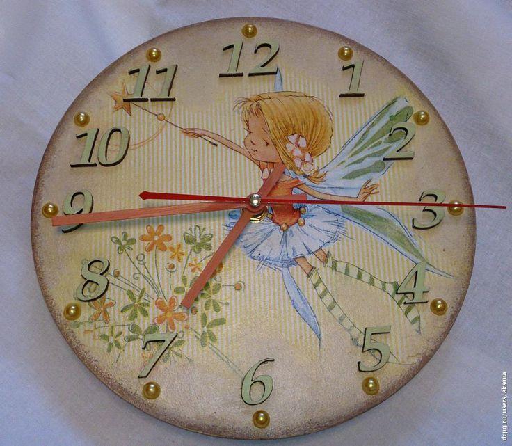 Декупаж - Сайт любителей декупажа - DCPG.RU | Детская тема в настенных часах Click on photo to see more! Нажмите на фото чтобы увидеть больше! decoupage art craft handmade home decor DIY do it yourself clock