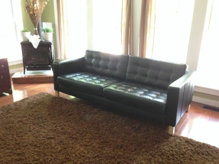 for sale ikea karlstad black leather couch ikea - Leather Couches For Sale