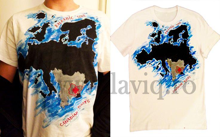 Tricou pictat BALKANIC SOUL   www.laviq.ro www.facebook.com/pages/LaviQ/206808016028814