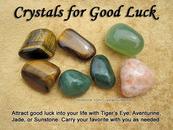 Good luck: tiger's eye, adventurine, jade, sunstone